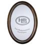 "Effect Bilderrahmen""Effect Profil 200 Oval 13x18 Holz Nussbraun O200,1318,43"""