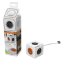 """Allocacoc""""Extended Remote inkl. 1,5 m Kabel grau Type F weiss"""""""