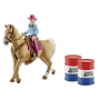 "Schleich ""Farm World 41417 Barrel racing mit Cowgirl"""
