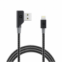 "Nonda ""ZUS Carbon Fiber Edition - Lightning-Kabel - USB (M) gewinkelt bis Lightning (M) gerade - 1.2 m - für Apple iPad/iPhone/iPo"""
