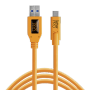 "Tether Tools ""USB 3.0 zu USB-C 4,60m orange"""