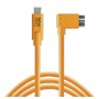 "Tether Tools ""USB-C zu 3.0 Micro- B Right Angle 4,60m orange"""