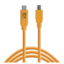 "Tether Tools ""USB-C zu 2.0 Mini B 5-Pin 4,60m orange"""