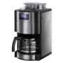 """Russell Hobbs""""20060-56 Allure Grind & Brew Filter-Kaffeemaschine Silber-Schwarz"""""""