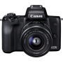 "Canon""EOS M50 - Digitalkamera - spiegellos - 24.1 MPix - APS-C - 4K / 25 BpS - 3x optischer Zoom EF-M 15-45-mm-IS-STM-Objektiv - Wi-Fi"""
