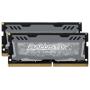 """Ballistix""""Sport LT 8GB Kit DDR4 4GBx2 2666 SODIMM 260pin grey"""""""