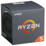"Amd ""AM4 Ryzen 5 6 Box 2600 3,40 GHz 6xCore 19MB 65W with Wraith Stealth cooler"""