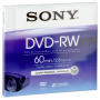 "Sony ""DVD-RW 2,8GB 8 cm 2x Speed, Jewel Case DMW 60 AJ [DE-Version, Regio 2/B]"""