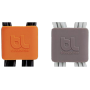 "Bluelounge ""CableClip Medium, Dark Grey & Orange"""