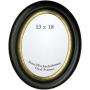 "Effect Bilderrahmen""Effect Profil HB oval 13x18 Holz Mahagoni mit Goldlippe"""