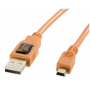 "Tether Tools ""Tetherpro Usb 2.0 A/minib 5 Pin 4,6m Orange [accessories] Tether Tools"""