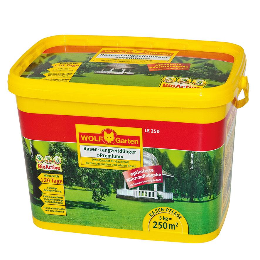 """Wolf Garten""""LE-250 Rasendünger Langzeit Premium 5 kg Eimer"""""""